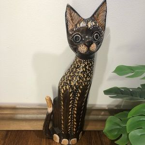 Other - Hand Carved Wooden Sitting Cat